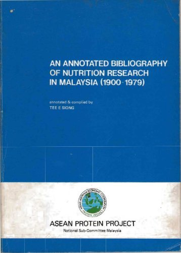 An Annotated Bibliography of Nutrition Research in Malaysia - Home