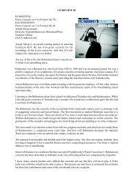 CD Review 85 Rubinstein and Rachmaninov ... - Dr David Wright
