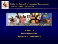 Essentials of Intercultural Communication - Center for Teaching ...