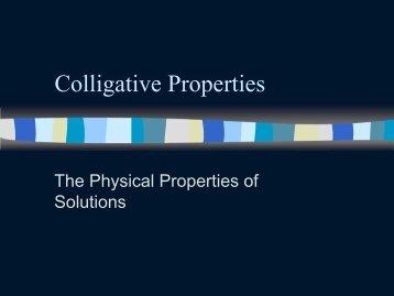 Colligative Properties PowerPoint