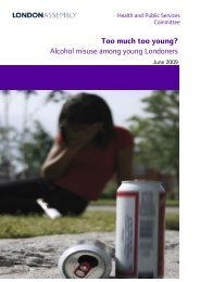Too Much, Too Young? - Greater London Authority