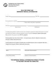 Field Trip Permission /Medical Form - Pickerington Local School ...