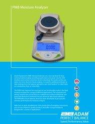 PMB Moisture Analyzer - Adam Equipment