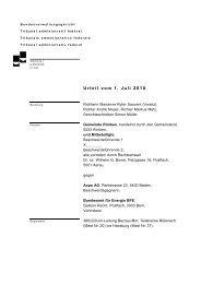Riniken: Urteil des Bundesverwaltungsgerichts vom 1.7.2010