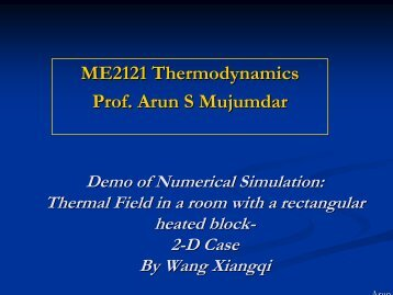 Thermodynamic vs. Thermo-fluids analysis of a heat source placed ...