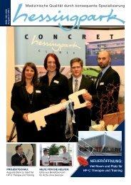 Hessingpark-concret, Ausgabe 01/2011 - Hessingpark-Clinic