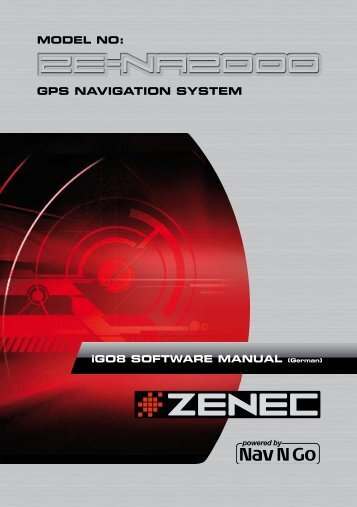 MODEL NO: GPS NAVIGATION SYSTEM - Zenec