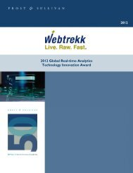 Global Technology Innovation Award 2012 - Webtrekk