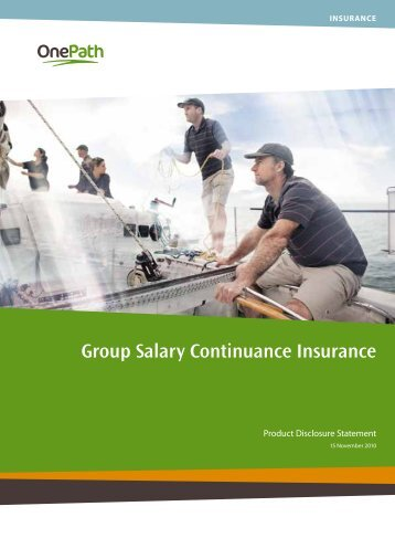Group Salary Continuance Insurance - OnePath