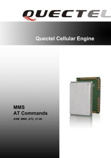 Quectel Cellular Engine MMS AT Commands
