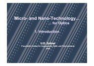 Micro- and Nano-Technology... Micro- and Nano-Technology...