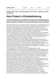 Kein Protest in Einheitskleidung - Uwe Roth