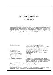878874-posudek, 125 ex 242-09.pdf - Exekutorský úřad Český ...