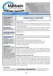 newsletter - Merbein P-10 College