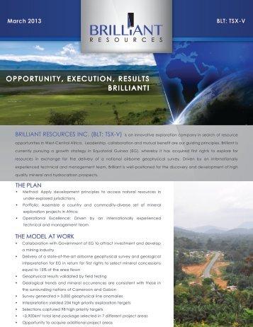March 2013 - Corporate Brochure - Brilliant Resources ...