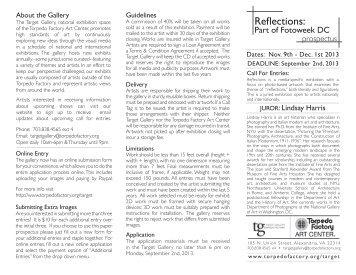 Reflections Prospectus.pdf - Torpedo Factory Art Center