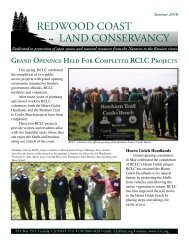 RCLC Summer 2010 Newsletter (659 Kb pdf file - Redwood Coast ...