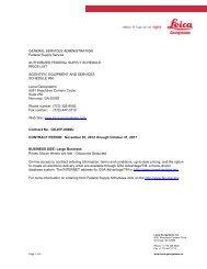 Leica Geosystems GSA Contract (PDF, 121.78 KB)