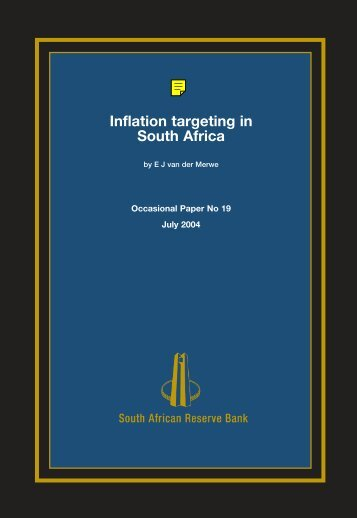 Inflation targeting in South Africa