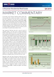 MARKET COMMENTARY - Ober-Haus