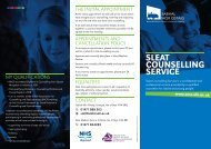 SLEAT COUNSELLING SERVICE - Sabhal Mòr Ostaig