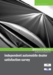 Independent automobile dealer satisfaction survey - Ernst & Young