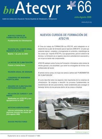 NUEVOS CURSOS DE FORMACIÓN DE ATECYR