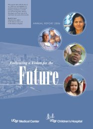 2006 Annual Report - UCSF Medical Center