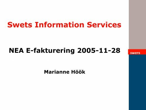 Swets Information Services AB