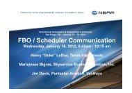 FBO Scheduler Communication | NBAA 2012 Schedulers ...