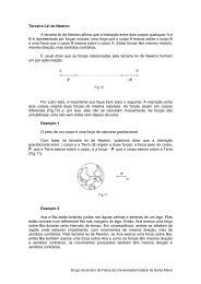 Terceira Lei de Newton - UFSM