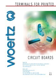 TERMINALS FOR PRINTED CIRCUIT BOARDS