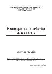 Historique de la création d'un EHPAD