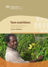 Yam nutrition: nutrient disorders and soil fertility management - ACIAR