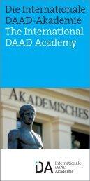 Die Internationale DAAD-Akademie The International DAAD Academy