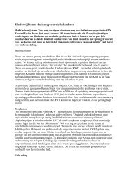 Kinderwijkteam: thuiszorg voor zieke kinderen - Zorgmarkt