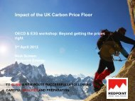 Impact of the UK Carbon Price Floor - E3G