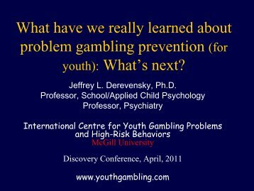 Problem Gambling Prevention For Youth Whats Next? - Responsible ...