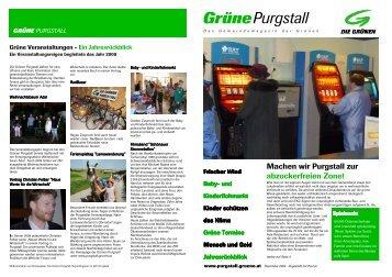 Grünes Gemeindejournal Dez. 2009 - Die Grünen