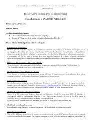 ANATOMIA PATOLOGICA - Sezione di Microbiologia