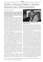 Geshe Lobsang Palden: Sanfter Meister der Gelehrsamkeit