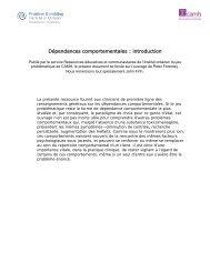 Dépendances comportementales : introduction - ProblemGambling.ca