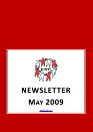 NEWSLETTER MAY 2009 - EHC