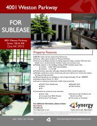 View Printable PDF - Synergy Commercial Advisors