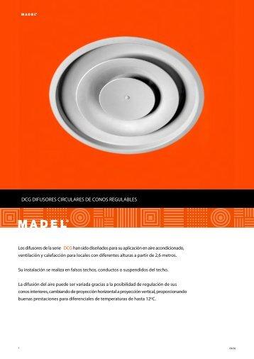 DCG DIFUSORES CIRCULARES DE CONOS REGULABLES - Madel