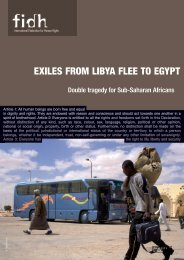FIDH Report: Exiles from Libya flee to Egypt