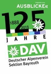 Download des Programms Frühling/Sommer 2013 - Alpenverein ...