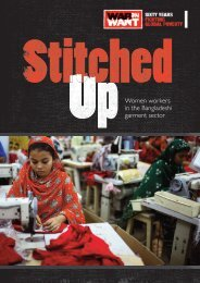 Stitched Up - War on Want