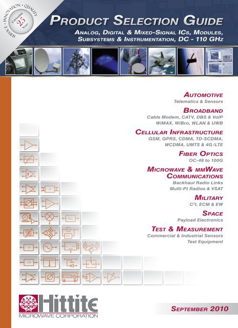 September 2010 Product Selection Guide