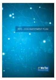 Investment Plan 2013-2015 - Wellington Institute of Technology